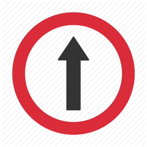 Straight, Traffic Sign, Warning, Warning Sign Icon