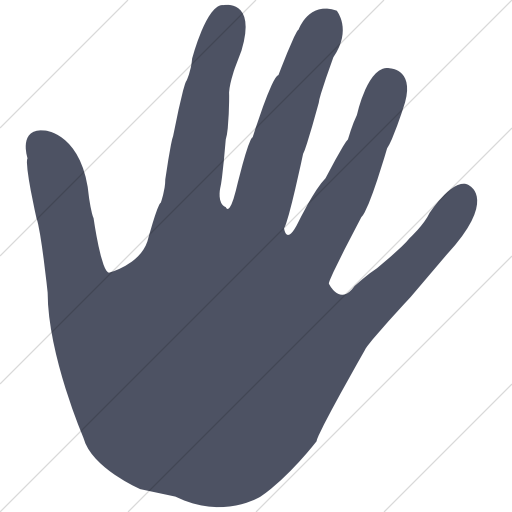 Simple Blue Gray Classica Stop Hand Icon