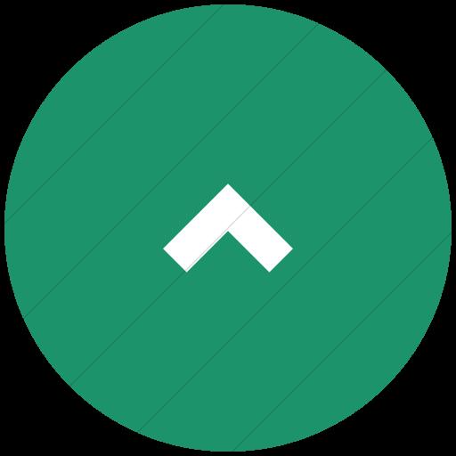 Flat Circle White On Aqua Raphael Chevron Arrow Up Icon