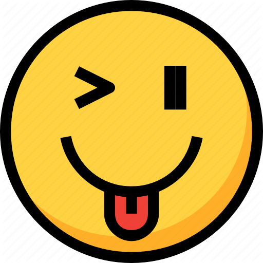 Emoji, Emotion, Face, Funny, Kidding, Silly Icon