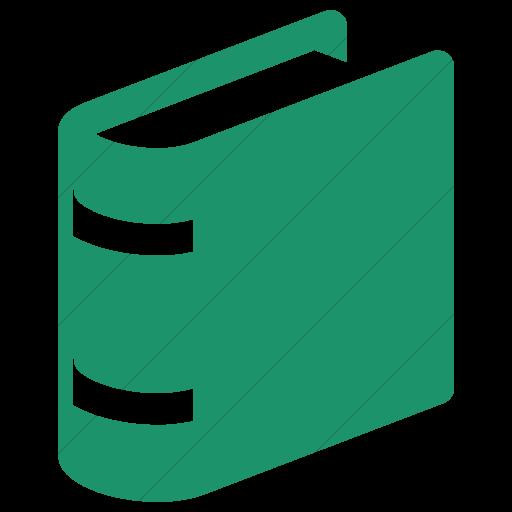 Simple Aqua Raphael Book Icon
