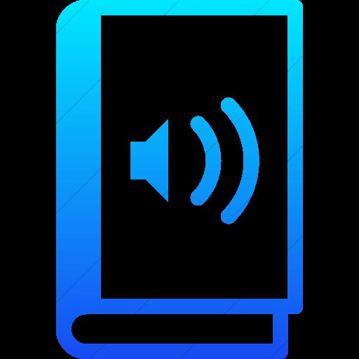 Simple Ios Blue Gradient Iconathon Audio Book Icon