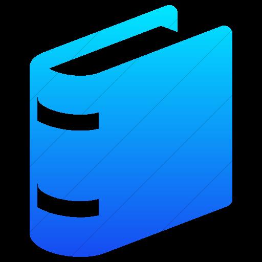 Simple Ios Blue Gradient Raphael Book Icon
