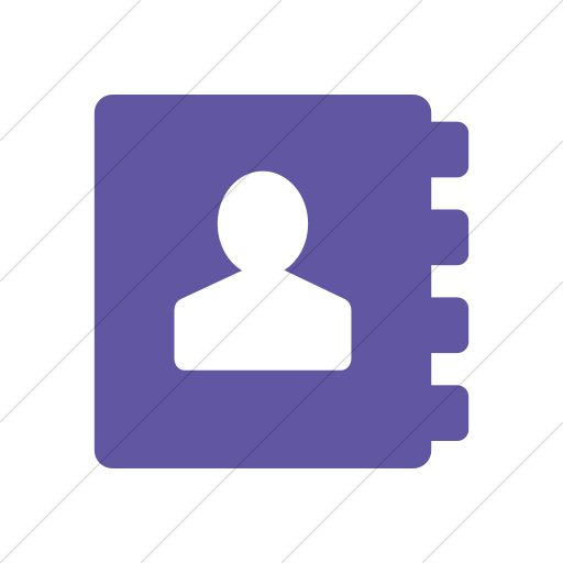 Simple Purple Foundation Address Book Icon