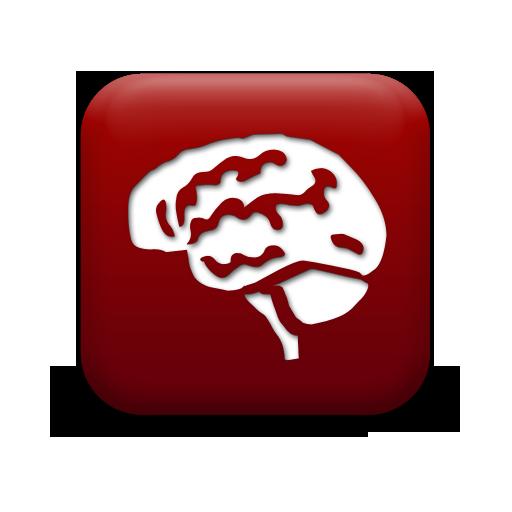 Simple Red Square Icon People Things Brain Anatom Anatomist