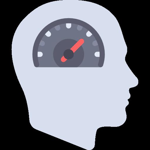 Head, Speedometer, Brain, Mind, Productivity, Seo And Web, People Icon
