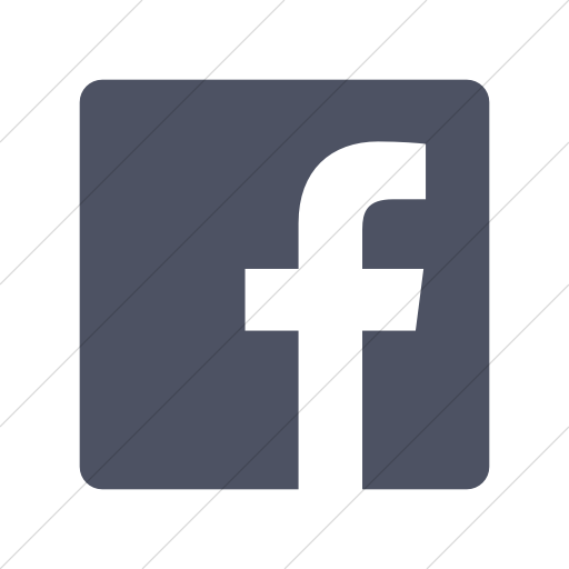 Simple Blue Gray Foundation Social Facebook Icon
