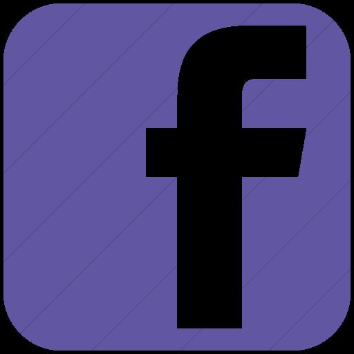 Simple Purple Social Media Facebook Square Icon