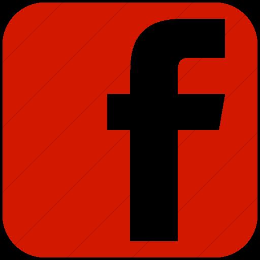Simple Red Social Media Facebook Square Icon