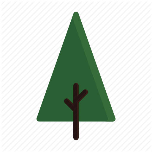 Branches, Green, Tree, Triangle Icon