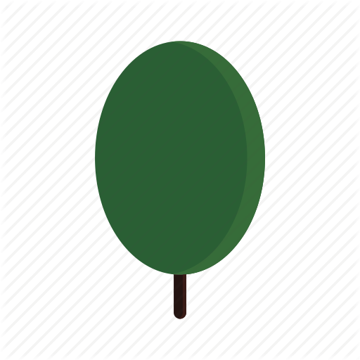Green, Oval, Tree Icon
