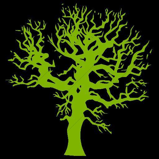 Simple Green Classica Autumn Winter Tree Icon