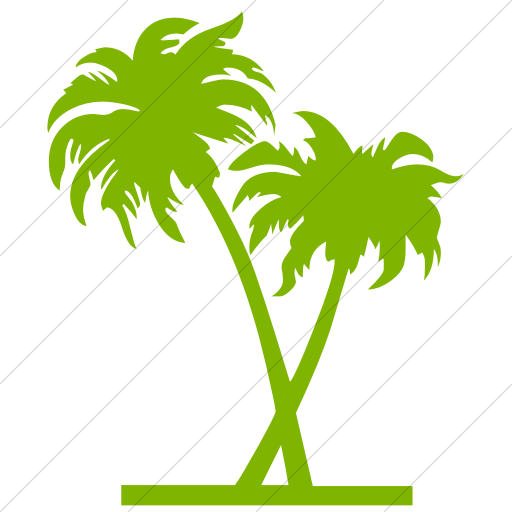 Simple Green Classica Palm Trees Icon