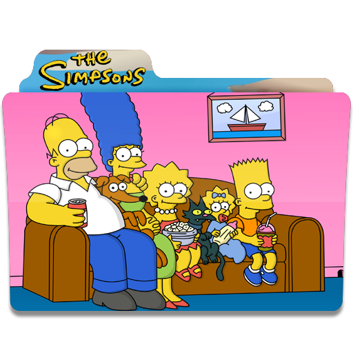 The Simpsons, Watching Tv, Folder, Folders Icon Free Of Simpsons
