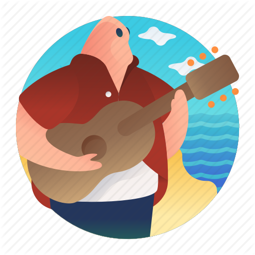 Beach, Guitar, Island Music, Music, Sing, Singing Icon