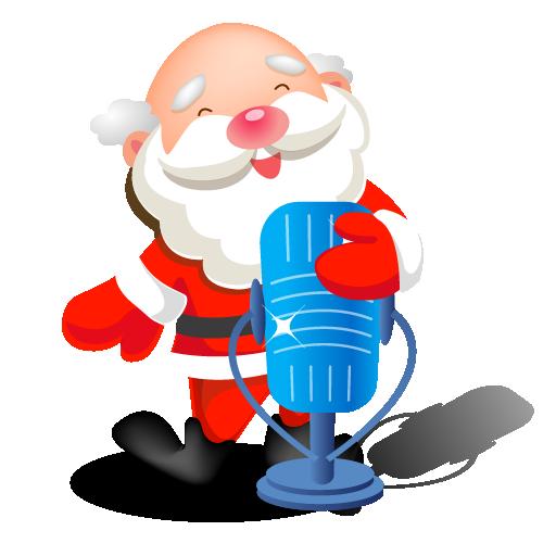 Santa Singing Microphone Icon Santa Iconset Mid Nights