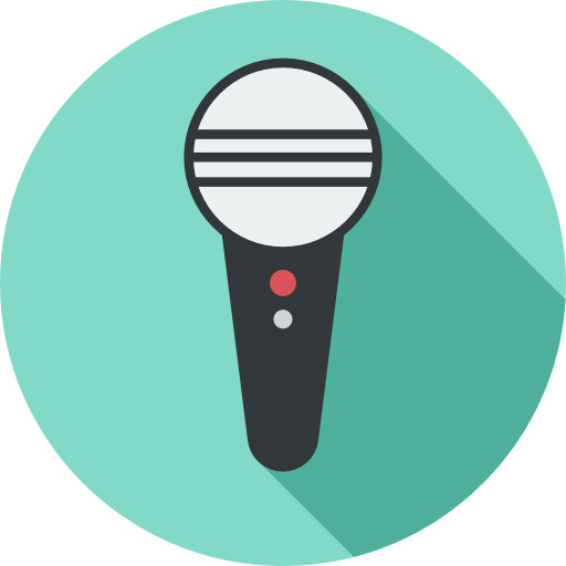 Sing Flat Skyblue Icon