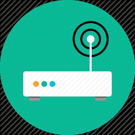 Antenna, Router, Single Icon