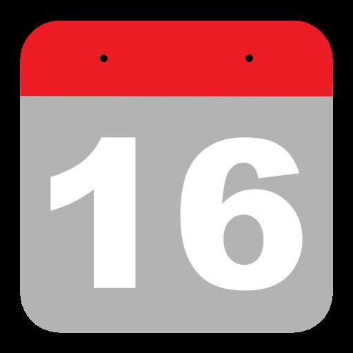 Six, Calendar, Event, Sixteen, One, Hovytech, Schedule Icon