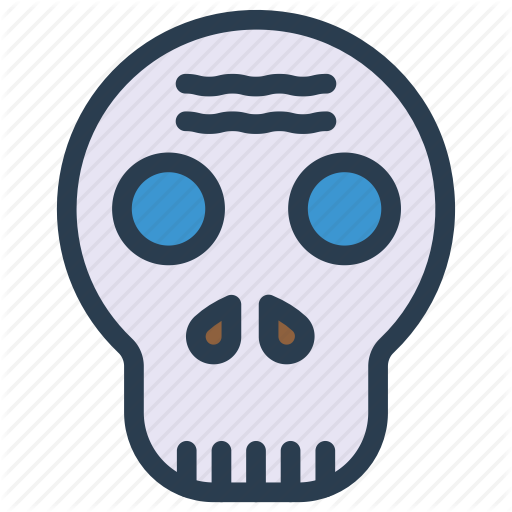 Creepy, Halloween, Skeleton, Skull Icon