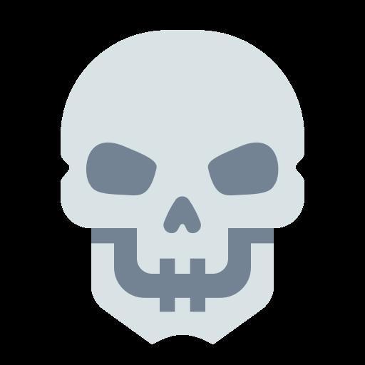 Halloween, Horror, Skeleton, Skull Icon Free Of Materia Flat