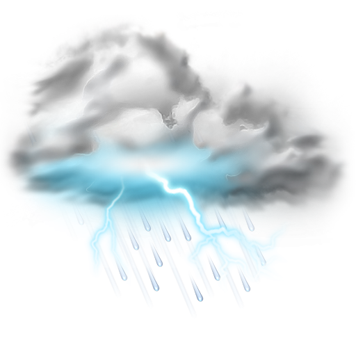 Thunder Lightning Storm Icon Weather Iconset Png Vector, Clipart
