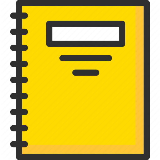 Book, Exercise, Notebook, Notepad, Pad, Sketchbook, Yellow Icon