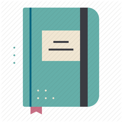 Diary, Notebook, Notepad, Sketchbook Icon