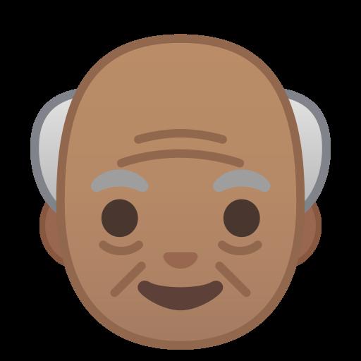 Old Man Medium Skin Tone Icon Noto Emoji People Faces Iconset
