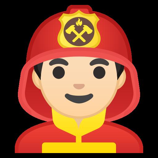 Man, Firefighter, Light, Skin, Tone Icon Free Of Noto Emoji