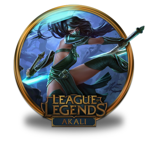 Akali Icon League Of Legends Gold Border Iconset