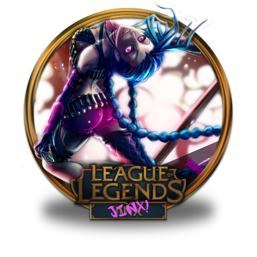 Jinx, Unofficial Icon Free Of League Of Legends Gold Border Icons