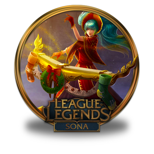 Silent, Night, Sona Icon Free Of League Of Legends Gold Border Icons
