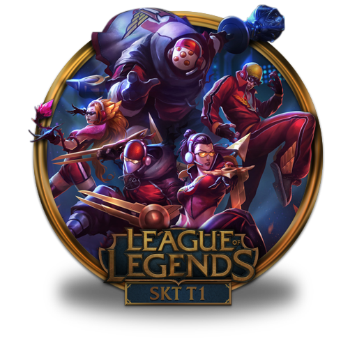 Skt, Icon Free Of League Of Legends Gold Border Icons