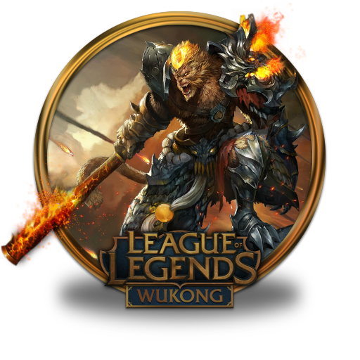Wukong Volcanic Icon League Of Legends Gold Border Iconset