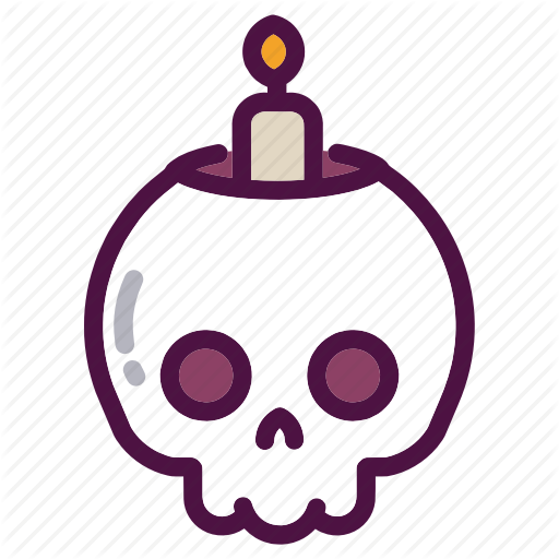 Bones, Candle, Halloween, Holiday, Party, Skull, Witch Icon