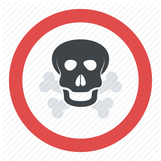 Chemical Hazard, Skull With Crossbones, Toxic Fumes, Toxic Warning
