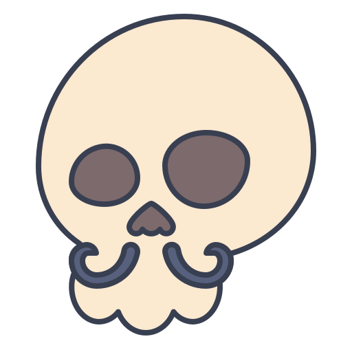 Mustache, Skull Icon Free Of Trick Or Treat