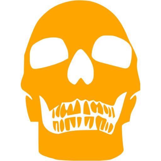 Orange Skull Icon