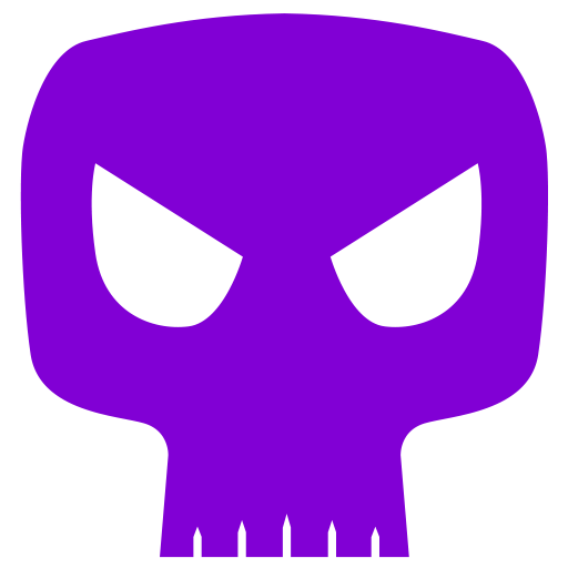 Cropped Skull Icon