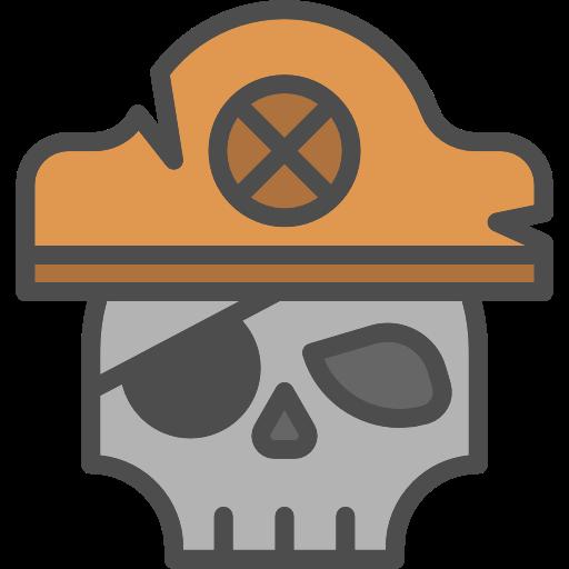 Pirate, Skull, Death, Piracy Icon