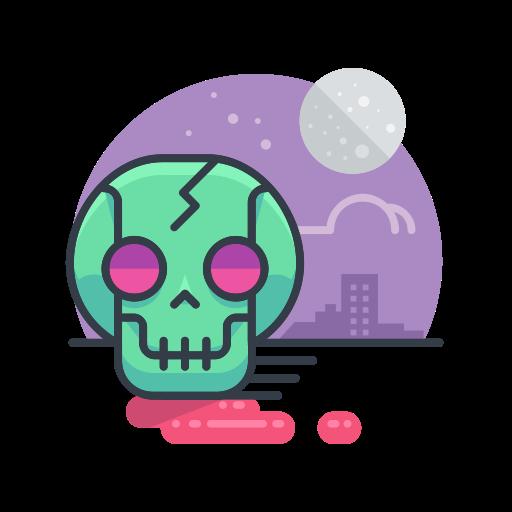 Skull, Halloween, Zombie, Skeleton, Spooky, Scary Icon