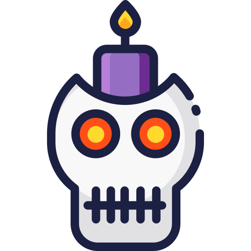 Candle Skull Png Icon