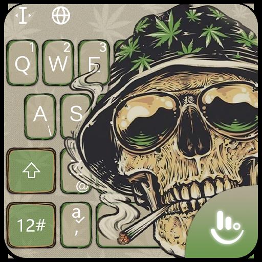 Smoking Warrior Skull Weed Keyboard Theme Download The App Store