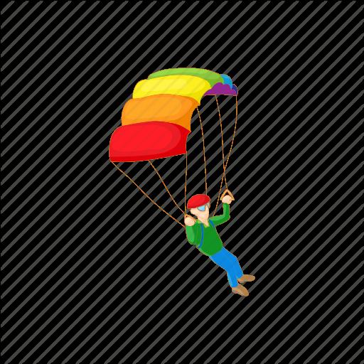 Air, Cartoon, Extreme, Parachute, Skydiving, Sport Icon