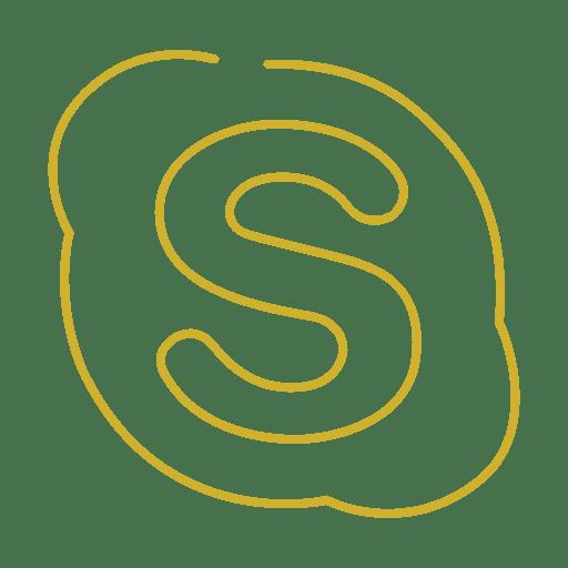 Yellow Skype Line Icon