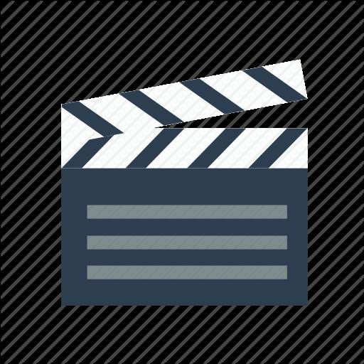 Clapperboard, Film, Go, On, Slate Board Icon
