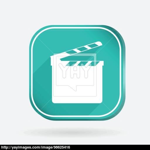 Slate Board Color Square Icon Vector