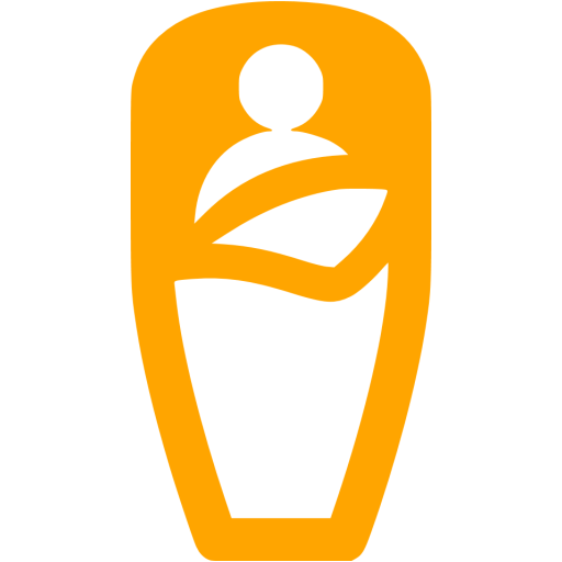 Orange Sleeping Bag Icon