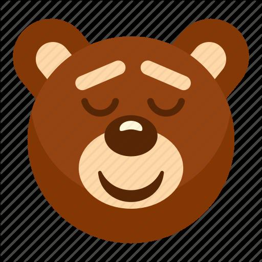 Animal, Bear, Head, Heart, Sleeping, Teddy, Toy Icon